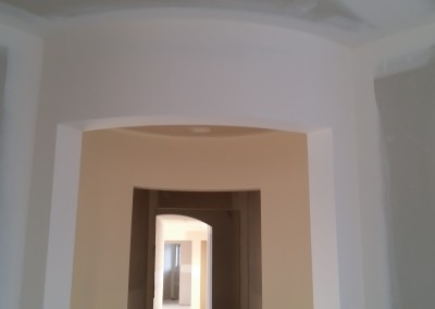 Round drywall doorway
